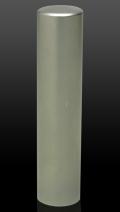 チタン(ブラスト) 認印 13.5mm×60mm (高級印鑑ケース付き)
