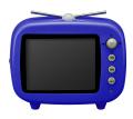 3.5型 TV型 FMラジオ付きデジタルフォトフレーム 青