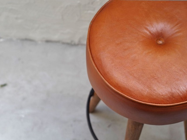 SF LEATHER HIGH STOOL SFレザーハイスツール LIFE FURNITURE ライフファニチャー