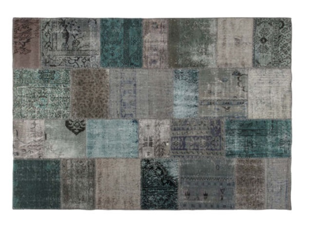 PATCHWORK RUG L TURQUISE パッチワーク ラグ ライトターコイズ 200×140