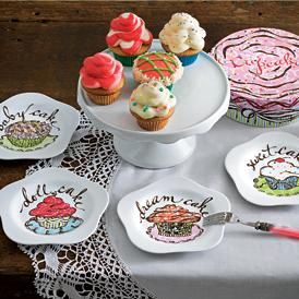 ROSANNA・ロザンナ カップケーキ プレート4枚セット