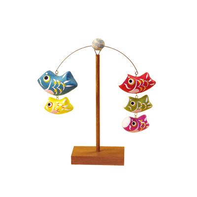 五月人形・鯉のぼり 親子鯉のやじろべえ