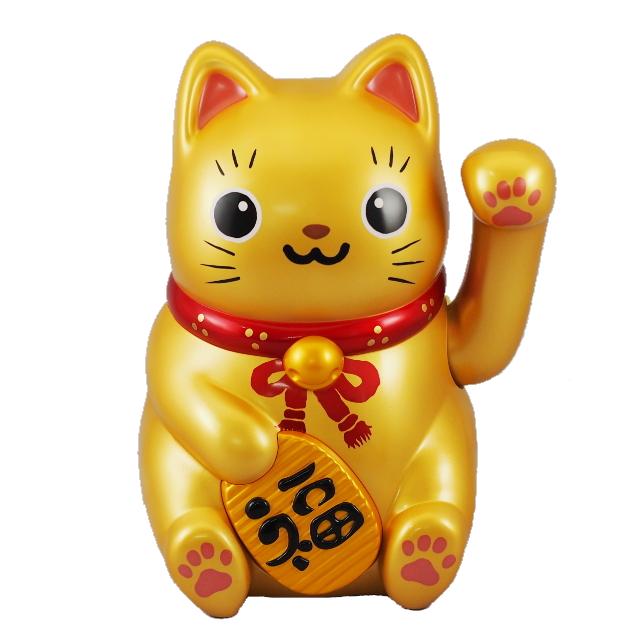ソーラー招き猫 金の大猫ちゃん