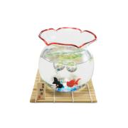 昔ながらの金魚鉢セット(赤)