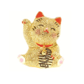 キラキラ招き猫(イエロー) 宝石箱・小物入れ