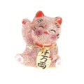 キラキラ招き猫(ピンク) 宝石箱・小物入れ