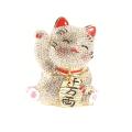 キラキラ招き猫(ホワイト) 宝石箱・小物入れ
