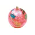 ピカルス天然石地球儀ペーパーウェイト ピンクパール
