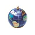 ピカルス天然石地球儀ペーパーウェイト 紺パール