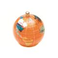 ピカルス天然石地球儀ペーパーウェイト オレンジパール