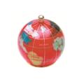 ピカルス天然石地球儀ペーパーウェイト 赤パール