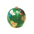 ピカルス天然石地球儀ペーパーウェイト 緑パール