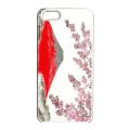 蒔絵iPhone5専用ケース(カバー) 富士に桜(白)