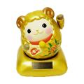 吉祥のシンボル 手招きで福を呼び寄せる 未年限定 2015年の干支「ソーラー幸せ招き羊(ひつじ)」(金)