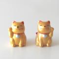 招き猫おみくじ 左右セット(金)