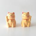 招き猫おみくじ 左右セット(黄)