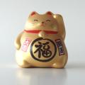 風水貯金箱 招き猫 まる福ねこ(金)