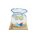 昔ながらの金魚鉢セット(青)