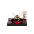 金箔入手づくり和硝子の五月飾り 開運「黒兜」