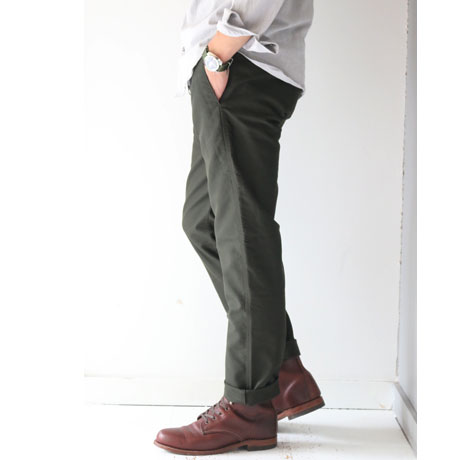 Giza Cotton Moleskin Slim Slacks (Mens)