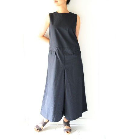 Cotton All-in-one Wide Pants