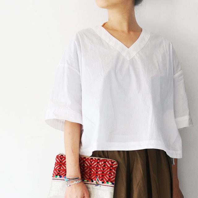 Typewriter Cloth Blouse