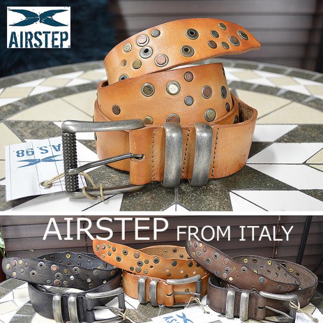 ベルト メンズ 本革 レザーベルト メンズ イタリア製 AIRSTEP ブランド スタッズベルト Leather Belt 824263 メンズ