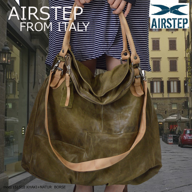 イタリア製 AIRSTEP ブランド 本革 ショルダーバッグ 斜めがけバッグ 旅行用 バッグ レザーバッグ レザー ショルダーバッグ メンズ レディース 151518