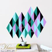 【チョークボード・パターン】[形:二等辺三角形][カラー:Dグループ]チョークで描ける 貼ってはがせる ウォールステッカー/実用新案登録第3207058号