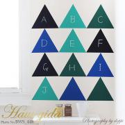 【大きなチョークボード・パターン】[形:正三角形][カラー:Fグループ]チョークで描ける 貼ってはがせる ウォールステッカー/実用新案登録第3207058号