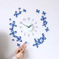 【送料無料】【HP限定セット】時計とフラワーチョーカー【壁に貼れる時計と選べるステッカーとのセット】