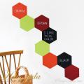 【チョークボード・パターン】[形:六角形][カラー:Bグループ]チョークで描ける 貼ってはがせる ウォールステッカー/実用新案登録第3207058号