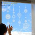 【ガラス専用 大きな輪飾り  A2サイズ】【ガラス専用雪だるま付き】すうーっと貼ってはがせて再利用できる 日本製 ふちが透き通っていて、ガラスに貼るとキレイ