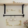 【メール便対応】A4サイズ【きらきら バラと天使】貼ってはがせるウォールステッカー・日本製・シルクスクリーン印刷【金色の上にグリッターを印刷しました。繊細にきらきらします】