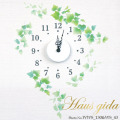 【送料無料】【HP限定セット】時計とアイビー・ステンシル【壁に貼れる時計と選べるステッカーとのセット】