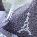 【メール便対応】【アイロンで布に転写できる】フロッキー転写シート パリ(白)