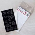 【メール便対応】【アイロンで布に転写できる】フロッキー転写シート ステッチばら(黒)