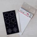 【メール便対応】【アイロンで布に転写できる】フロッキー転写シート レース(黒)