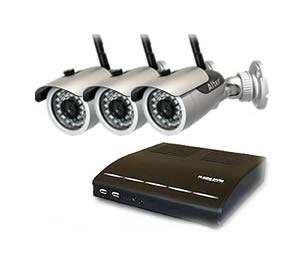 防犯カメラ ワイヤレス 屋外 防犯カメラ3台  高画質録画 対応セット  DVR-HDC04DX3