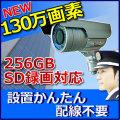 防犯カメラ 屋外 SDカード録画  130万画素 家庭用 防犯カメラ MTW-SD02AHD 720P