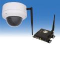 防犯カメラ ワイヤレス/無線  屋外  ワイヤレス&有線ケーブル両用 52万画素 高画質 ドーム型 防犯カメラ WTW-TRD23F