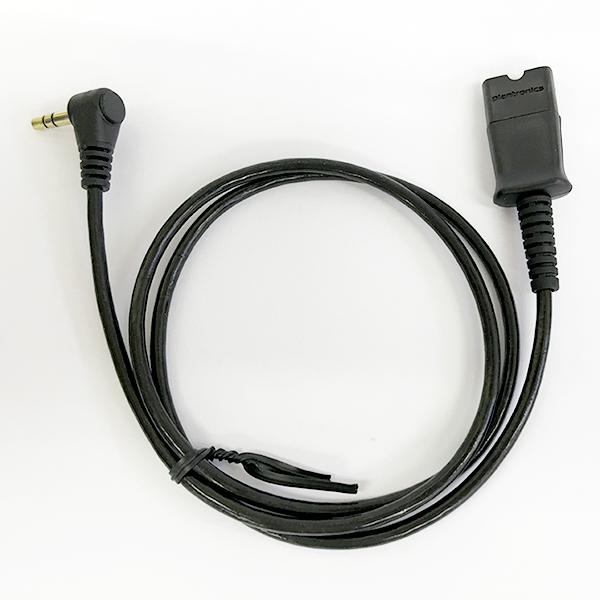 Plantronics(プラントロニクス) 63625-02 アクセサリ 3.5mm 3極 L型変換ケーブル(携帯電話・PHS用)