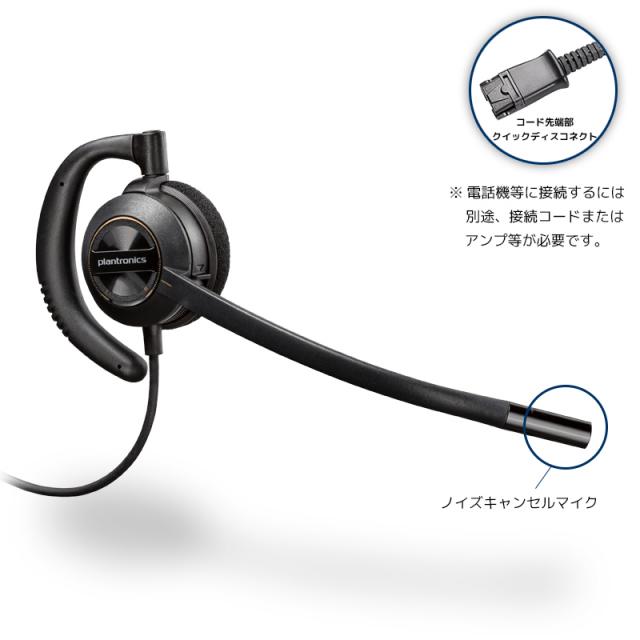 【送料無料】Plantronics(プラントロニクス) HW530 耳掛け、ノイズキャンセル機能