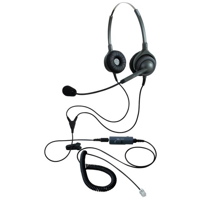 【送料無料】アンプ不要ヘッドセットパック(ヘッドセット+接続コード両耳用 /エンタープライズ(日本製) EN2(ヘッドセット) + VMC3(接続コード)