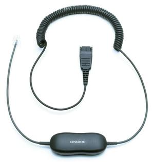 Jabra製 電話機用ヘッドセット接続スマートカールコード GN1200CC(88011-99)