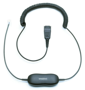 Jabra製 電話機用ヘッドセット接続 Avaya One-X Phone 9600/1600シリーズ専用コード GN1216CC(88001-04)