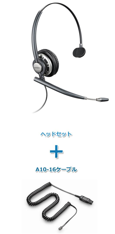 プラントロニクスヘッドセット(特定電話機用 HW291N・A10-16ケーブルセット)