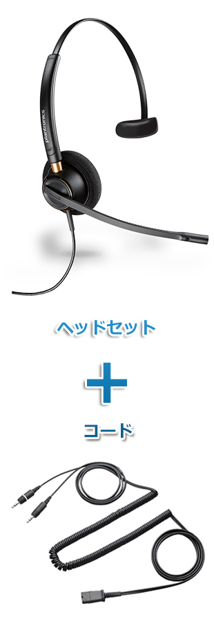 【送料無料】Plantronics(プラントロニクス) HW510-28959-01 ヘッドセット(HW510・PC接続ケーブル 28959-01)