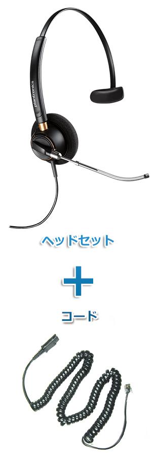 【送料無料】Plantronics(プラントロニクス)ヘッドセット(特定電話機用 HW510V・27190-01 ポラリス用ケーブルセット)