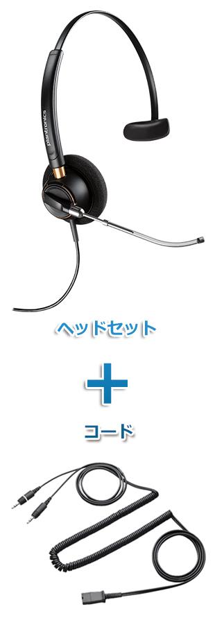 【送料無料】Plantronics(プラントロニクス) HW510V-28959-01 ヘッドセット(HW510V・PC接続ケーブル 28959-01)